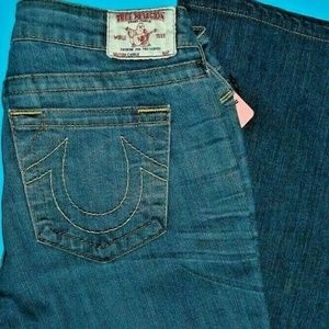 29 X 33 TRUE RELIGION CARRIE SKINNY FLARE JEANS